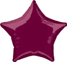 Star Shaped Burgundy Foil Helium Balloon